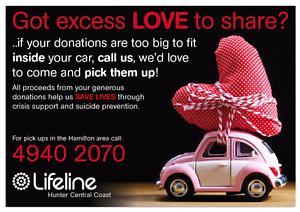 Lifeline collection service Hamilton North Newcastle Area Preview
