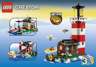 LEGO Creator 3-in-1 Lighthouse Island 5770 New Sealed Perfect Box boat marina