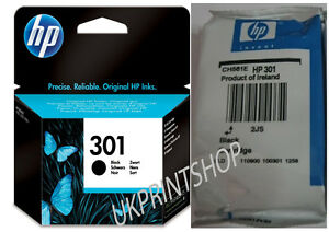 genuine hp 301 black ink cartridge for deskjet inkjet 3050a 2510 2540 printer ebay. Black Bedroom Furniture Sets. Home Design Ideas