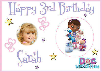 Personalized Doc Mcstuffins Birthday Banner (LARGE KIDS DOC MCSTUFFINS BIRTHDAY POSTER BANNER PERSONALISED NAME TEXT)