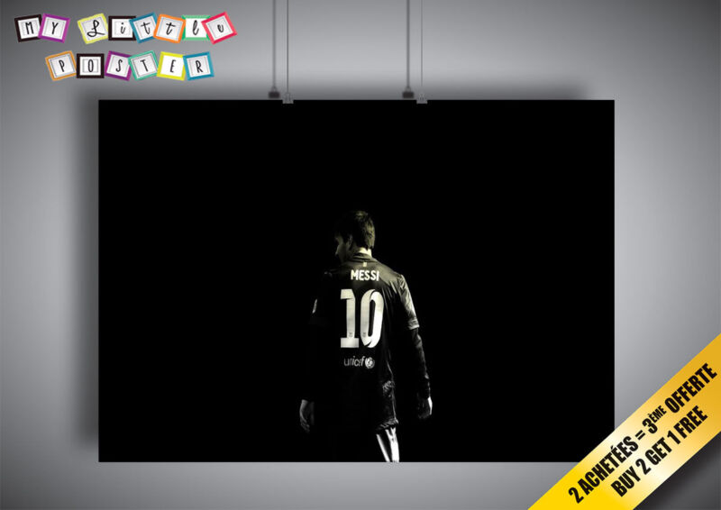 Poster Leo Messi Barca Number 10 FC Football Wall Art