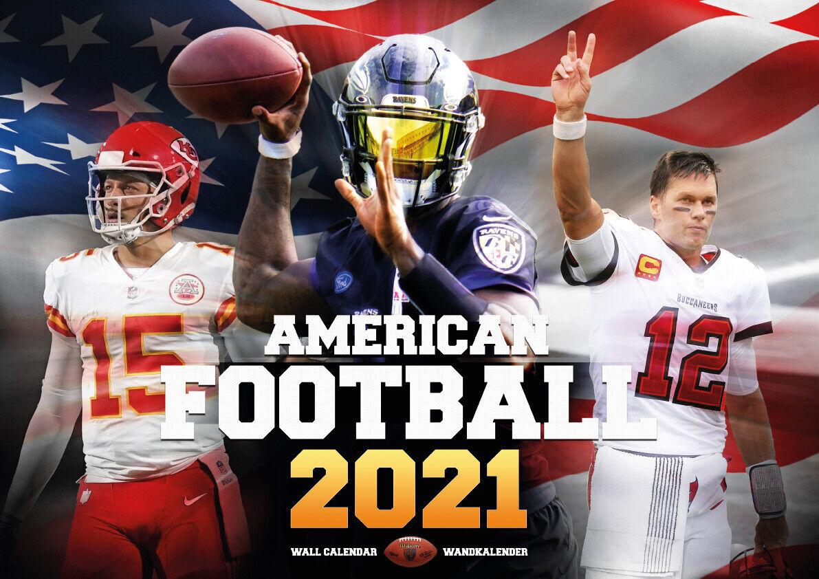 AMERICAN FOOTBALL - NFL Kalender 2021 *NEU* Fanartikel Merchandise