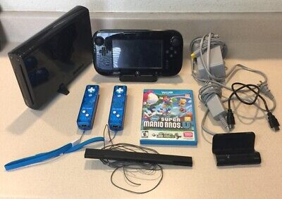Nintendo Wii U 32GB Console Bundle Tested Super Mario Rock Candy Controllers