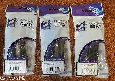 3 x Connekt Gear 3m USB 2.0 (Universal Serial Bus) Cable 26-2907...