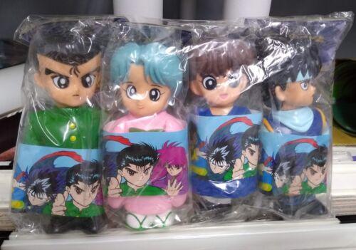 Yu Yu Hakusho Characters Mascot Soft Vinyl Coin Bank COMPLETE 4 Figure set