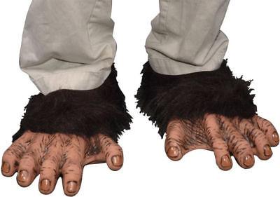 Morris Costumes Adult Unisex Elastic Latex Upper Chimp Feet One Size. 1005BSF
