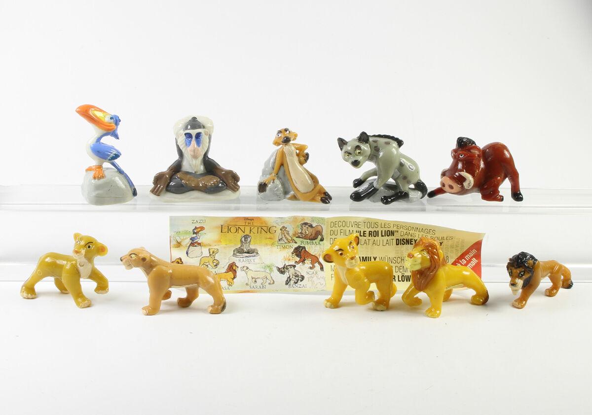 König der Löwen === Walt Disney 10 x Figuren Nestle kompletter Satz ! OHNE BPZ