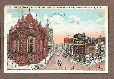 VINTAGE POSTCARD 1926 NIAGARA STREET BUFFALO NEW YORK Niagara Street Buffalo