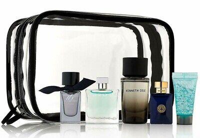 Versace Burberry Azzaro Kenneth Cole NEW Travel Case Men's 5 Piece Cologne SET