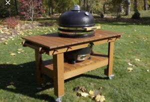 Safire bbq smoker with teak table