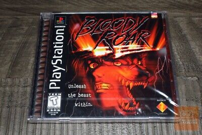 Bloody Roar (PlayStation 1 PS1 1998) FACTORY SEALED! - RARE! - EX! Bloody Video Games