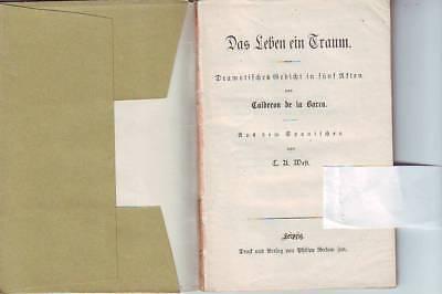 CALDERON DE LA BARCA DAS LEBEN EIN TRAUM K RNER ZRINY RUB 65 166