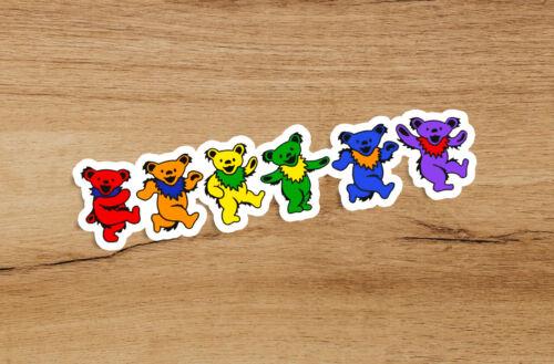 Grateful Dead Dancing Bears Sticker 5 inches Decal music bumper car Jerry Garcia