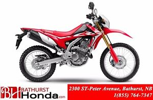 2017 Honda CRF250L Excellent performance at any RPM!! Great stab