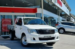 2015 Toyota Hilux TGN16R MY14 Workmate 4x2 White 5 Speed Manual Cab Chassis Castle Hill The Hills District Preview