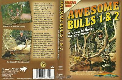 Elk Hunting Awesome Bulls 1 & 2 Bow and Rifle 2 Films on 1 DVD NEW