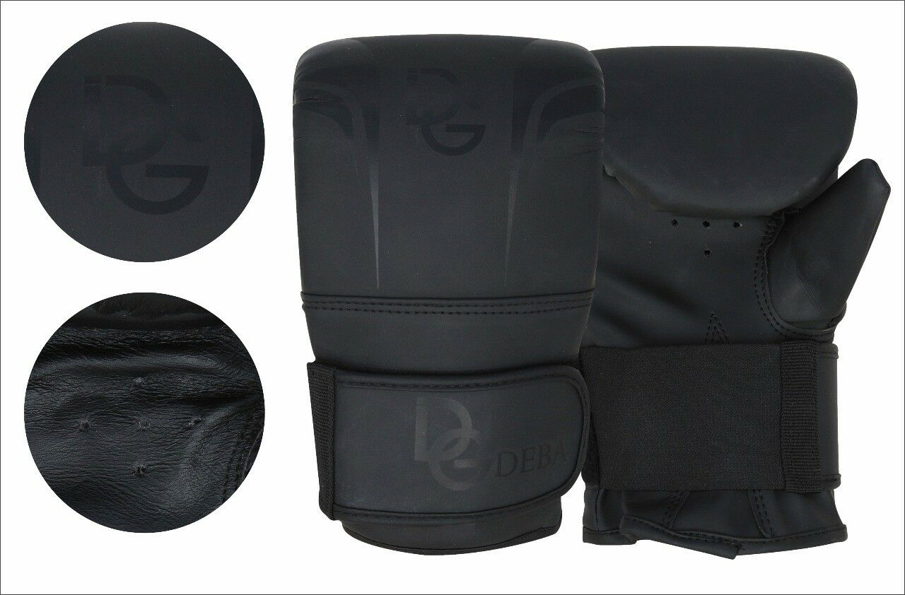 Deba® Sandsack Handschuhe Leder Boxen kickboxen Training Boxing Gloves DE