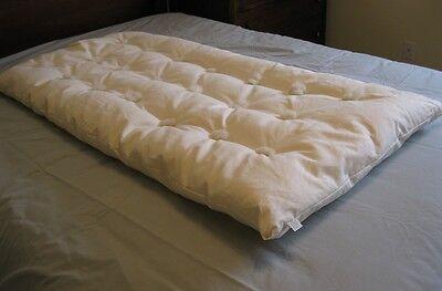 Eco Wool Fill Hemp Organic Cotton BABY Crib Mattress Topper Pad Natural New USA