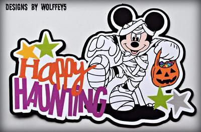 DISNEY HALLOWEEN scrapbook premade paper piecing page diecut 3d ART CARD WOLFFEY](Disney Halloween Art)