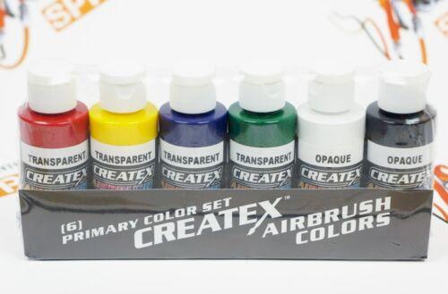Airbrush Paint - Createx Airbrush Colors - 5801-00 Primary Set - 6 x 2oz