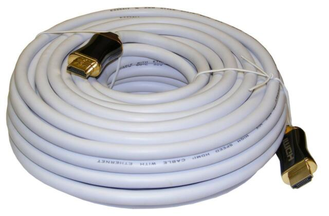 SAC White 15m HDMI Lead / Cable - V2.0 - 3D / 1080p / 1440p / 2160p / 4k - UHDTV