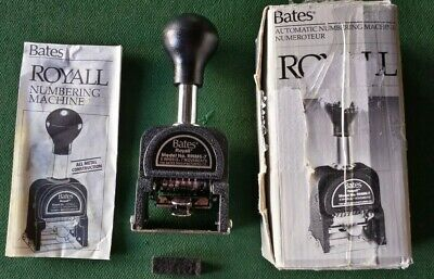 New Vintage Bates Royall Numbering Machine Rnm6-7 Automatic Stamping Machine