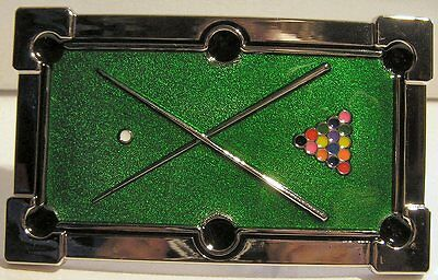 Pool Table 8 Ball 9 Ball Snooker Cues Belt Buckle to attach to own belt New