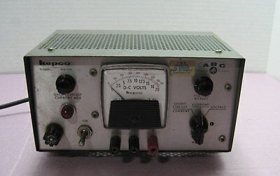 Kepco Abc-18 Dc Power Supply 0-18 500maworks Fine