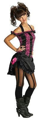 Costumes For Girl Tweens (Rubies Costume Co Pink and Black Saloon Girl Tween Costume Size Teen Medium)
