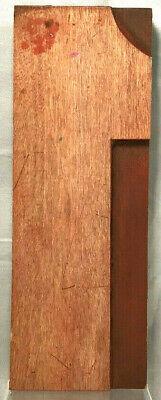 Vintage Wood Letterpress Print Type 8 Printers Block Cut Number 1