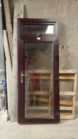 Rosewood fully Glazed Upvc miss measure door for sale - Just £150 + VAT - Free Local Delivery