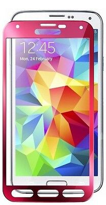 Glass-M Pink Border Best Shatterproof Galaxy S5 Tempered Glass Screen