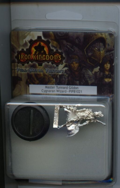Iron Kingdom Master Tunnard Glidon Cygnaran Wizard MINT