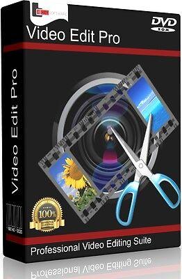 Professional Video Editing Studio PC Mac Software Program. Pro Film Cut MP4 AVI