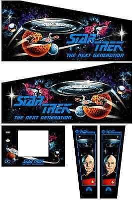 STAR TREK THE GENERATION Pinball Machine Cabinet Decals Limited QTY - NEXT GEN
