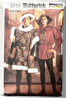 Renaissance Boot Pattern (Reduced Butterick 6750 Men's Renaissance Tunic Shirt, Hat, Boots & Spats)