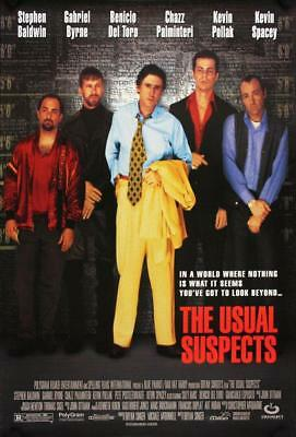 Vintage The Usual Suspects Poster//Classic Movie Poster//Mov