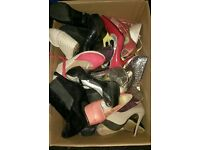 Box of ladies size 3 shoes