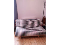 IKEA FUTON DOUBLE BED - WITH 2 FUTON MATTRESSES