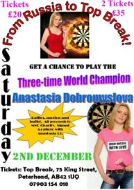 Charity darts event at Peterhead - be part of it!