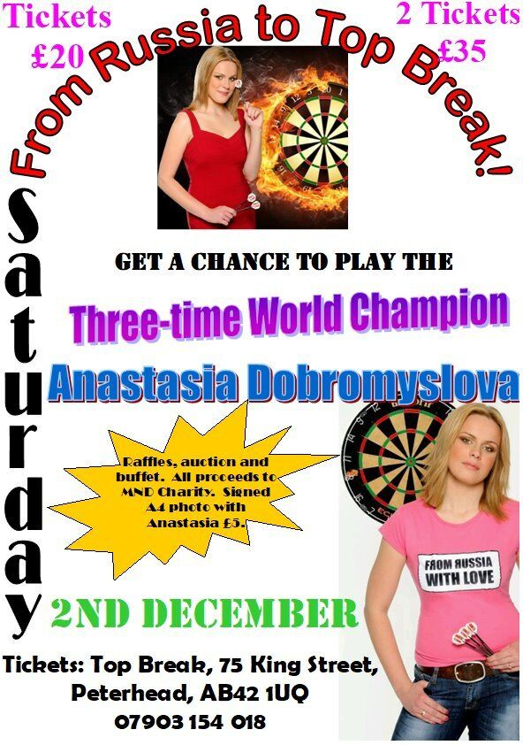 Darts Event at Top Break - not to be missed!
