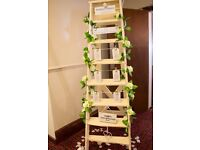 Stepladders for decorations or table planner