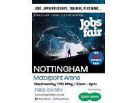 FREE JOBS FAIR - Nottingham 17th May