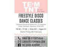 Freestyle disco dance lessons