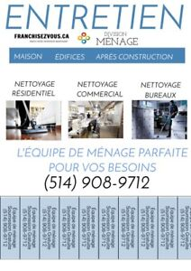 Ménage - residential commercial montreal