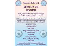 ☆ 11 A SIDE PLAYERS WANTED – FISHPONDS OLD BOYS FC ☆