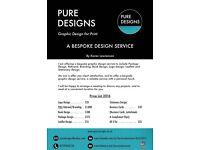 PURE DESIGNS - A GRAPHIC DESIGN FOR PRINT BESPOKE SERVICE