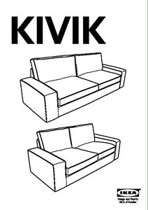 KIVIK sofa 3 places and footstool with storage