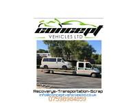 Recovery, transportation, scrap cars