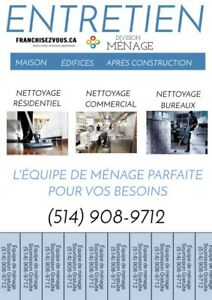 Ménage - residential commercial montreal -